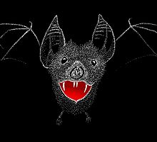 Flying Vampire Bat likes you a lot by SusanSanford