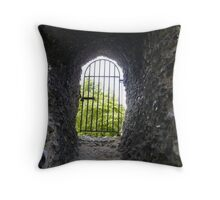 Mysterious gate Throw Pillow