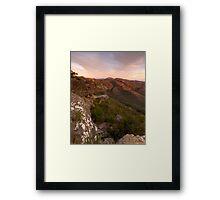 Balconies Sunset Framed Print
