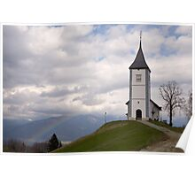Rainbow church Poster