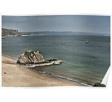 Goscar Rock North Beach Tenby Pembrokeshire Poster