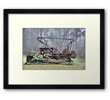 Bull Dozer Dozing!! Mt Wilson NSW Australia Framed Print