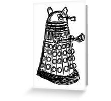 Dalek Sketch Greeting Card