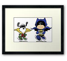Batman & Robin Peanuts Framed Print