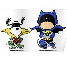 Batman & Robin Peanuts Poster