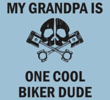 My Grandpa Is One Cool Biker Dude Baby Tee