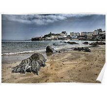Tenby Harbour North Beach View 2 Poster