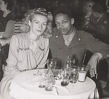 Momma and Daddy in Europe 1949 by Alga Washington