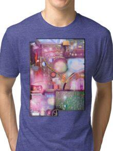 Bigger On The Inside - Vintage Electronic Fantasy Tri-blend T-Shirt