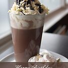 hot chocolate birthday greeting card by Moonlake