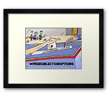 Binary Options News Cartoon French Election Day Framed Print