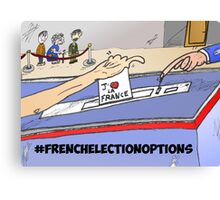 Binary Options News Cartoon French Election Day Canvas Print