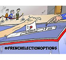 Binary Options News Cartoon French Election Day Photographic Print