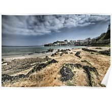 Tenby Harbour North Beach View 4 Poster