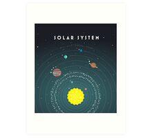 Solar System Art Print