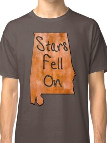 The Stars Fell On Alabama Rustic Map Art Classic T-Shirt
