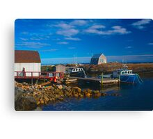 Blue Rocks, Nova Scotia, Canada Canvas Print