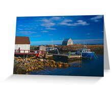 Blue Rocks, Nova Scotia, Canada Greeting Card