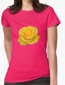 Beautiful Yellow Rose Closeup  Womens Fitted T-Shirt