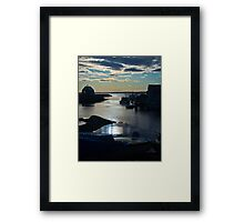 Setting Sun - Blue Rocks, Nova Scotia, Canada Framed Print