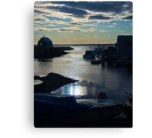 Setting Sun - Blue Rocks, Nova Scotia, Canada Canvas Print