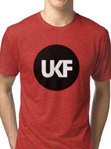 UKF-Black and White Tri-blend T-Shirt