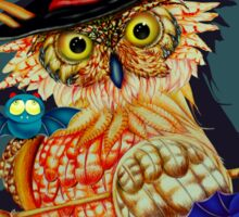 Owl Scary Sticker