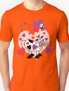 Cow Love with a Bumble Bee T-Shirt