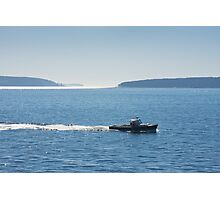 Lobster Boat And Islands Off Mount Desert Island Maine Photographic Print