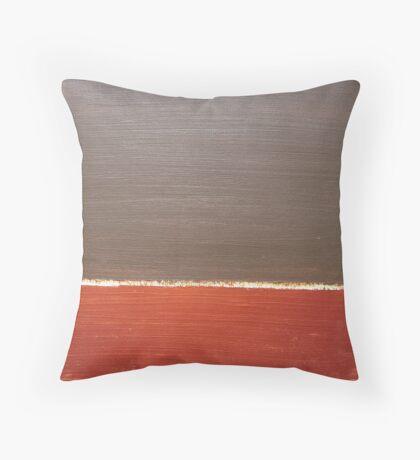 Copper Below Throw Pillow
