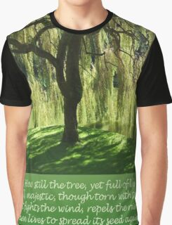 How Still the Tree Photograph and Prose Graphic T-Shirt