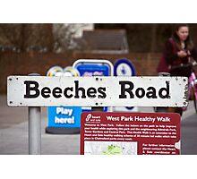 Beeches Road Photographic Print