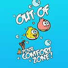Out Of Your Comfort Zone ! Spongebob and Patrick (Blue Edition) by kikkawa