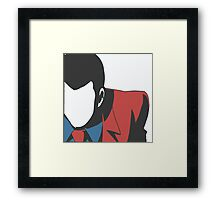 Lupin no face Framed Print