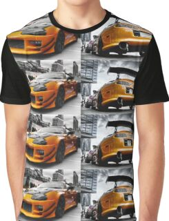 Toyata Supra - Pimped street car racer HDR Graphic T-Shirt