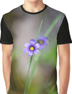 Blue Eyed Grass Flower Graphic T-Shirt
