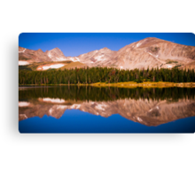 Indian Peaks Reflections Canvas Print