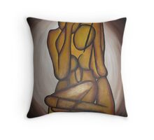 Abstract Lovers Throw Pillow