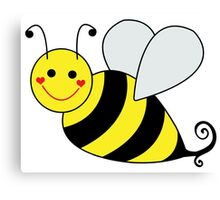Bumble Bee Graphic Canvas Print