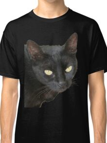 Black Cat Isolated on Black Background Classic T-Shirt