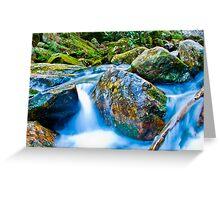 mountains streams Greeting Card