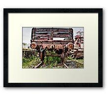 Decaying Railway Wagon Framed Print