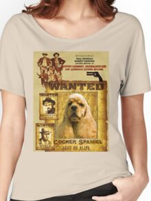 American Cocker Spaniel Art - Butch Cassidy and the Sundance Kid Women's Relaxed Fit T-Shirt