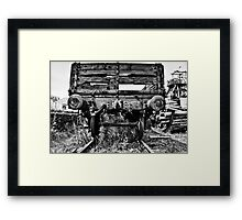 Decaying Railway Wagon Mono Framed Print