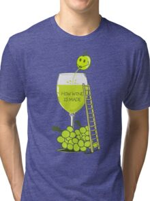 How Wine is Made Funny Illustration Tri-blend T-Shirt
