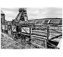 Decaying Railway Wagon 2 Mono Poster