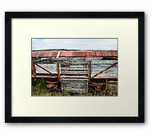 Decaying Railway Wagon 3 Framed Print