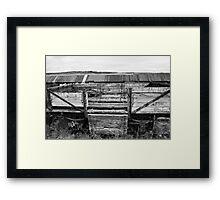 Decaying Railway Wagon 3 Mono Framed Print