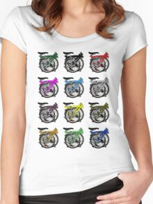 Brompton Bicycle Folded Women's Fitted Scoop T-Shirt
