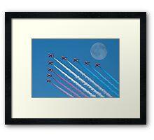 Lunar Fly Past Framed Print